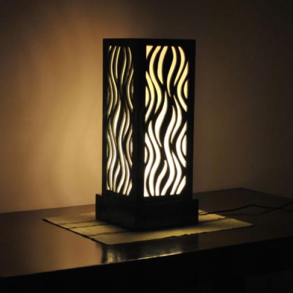Flame pattern black bedside lamps for sale