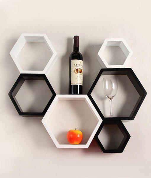 black white wall shelves for sale online india