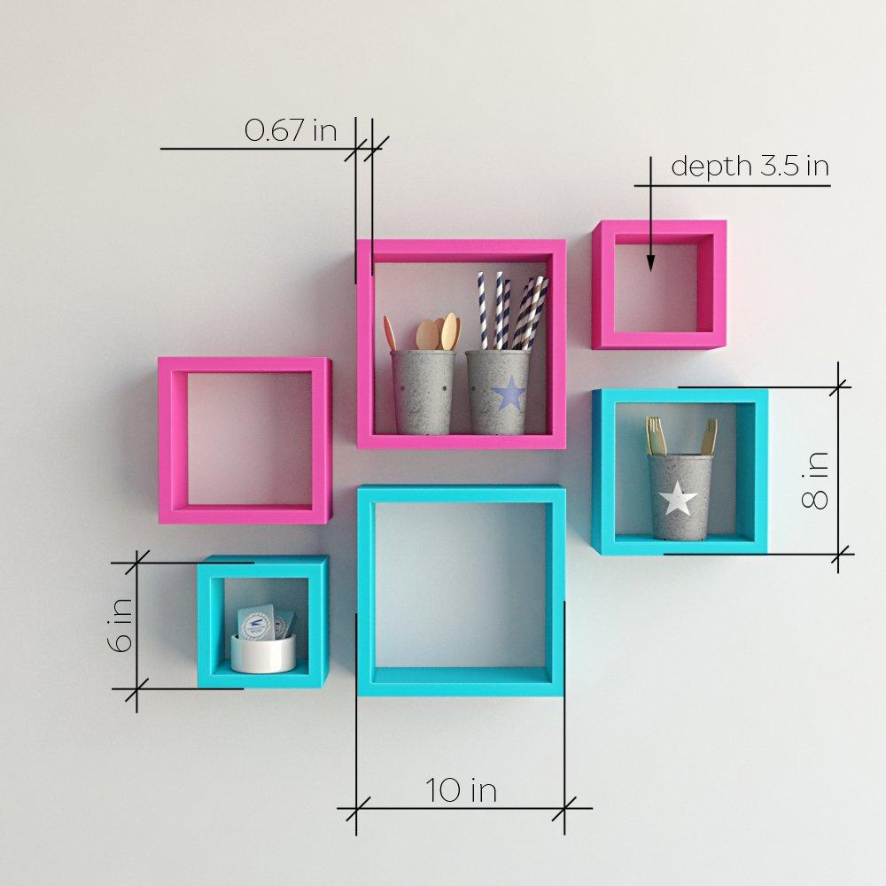buy decornation nesting square wall racks