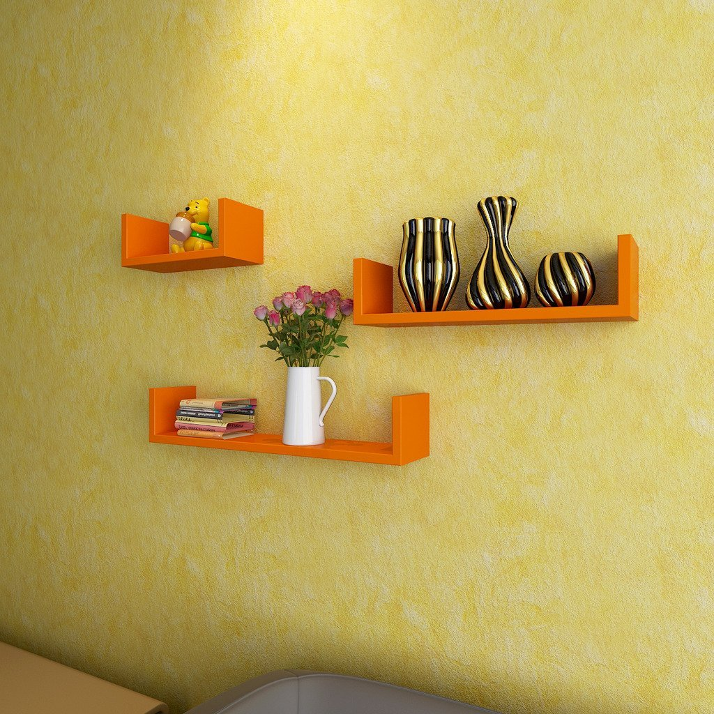 cheap wall shelves orange online india