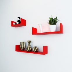 decorative wall racks red color for sale