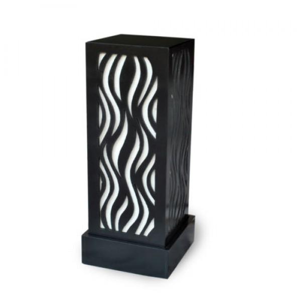 Buy Designer Table Lamp Flame Pattern White Online
