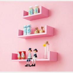 pink wall decor shelves for sale