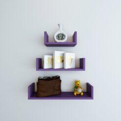 purple u shape display wall racks