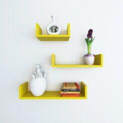 set of 3 wallshelves for display and storage