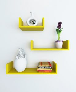 set of 3 wallshelves for display and storage