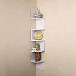 white corner display unit for room decor white
