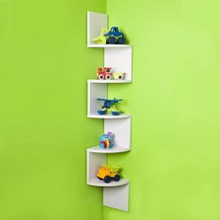 zigzag display wall shelves for decor white