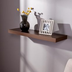buy brown 30in single wall rack for home decor