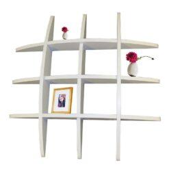 floating wall racks white for home