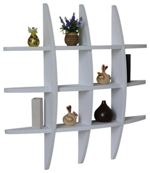 mounted wall shelves for display white