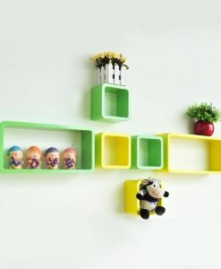 wall shelf brackets green pink set of 6