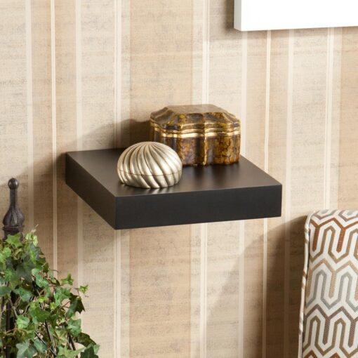 10in black single wall shelf for sale