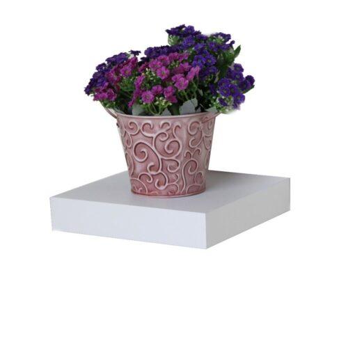 10in floating wall mount shelf white