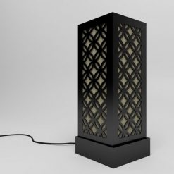 black japanese circle pattern floor lamps