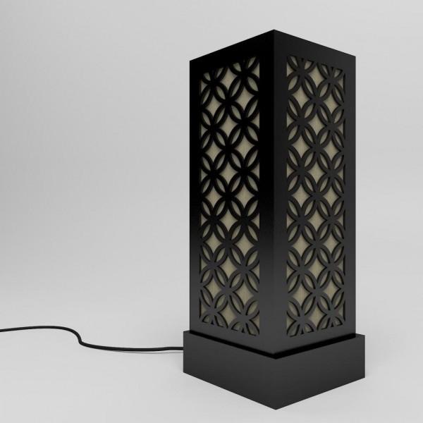 black japanese circle pattern floor lamps