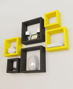 buy decornation display square wall shelves for sale