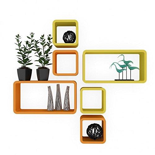 `buy wall racks online india orange yellow