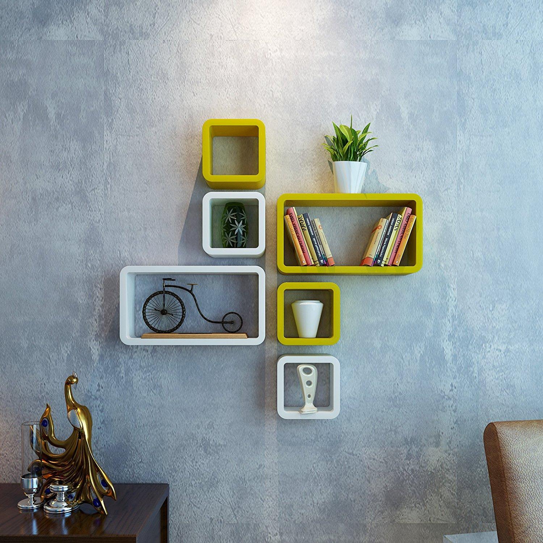 cube rectangle wall racks for living room