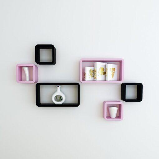 decorative decoranation wall shelves black pink