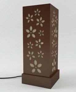 decorative floral bedside lamps brown