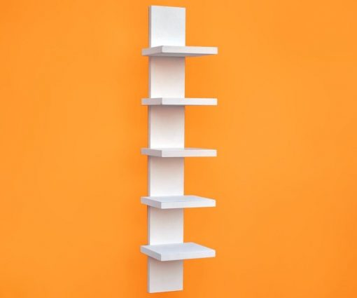 decornation white spine wall shelf for sale