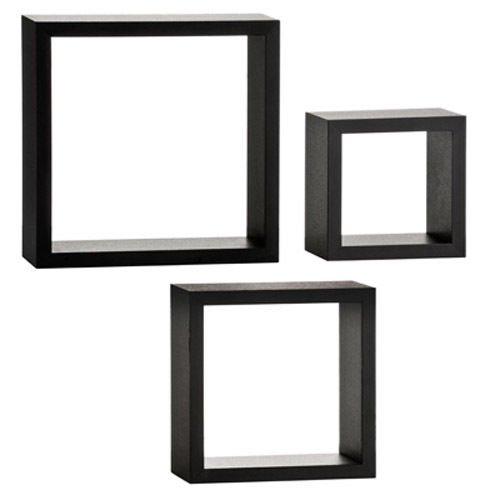 designer black cube wall racks for sale