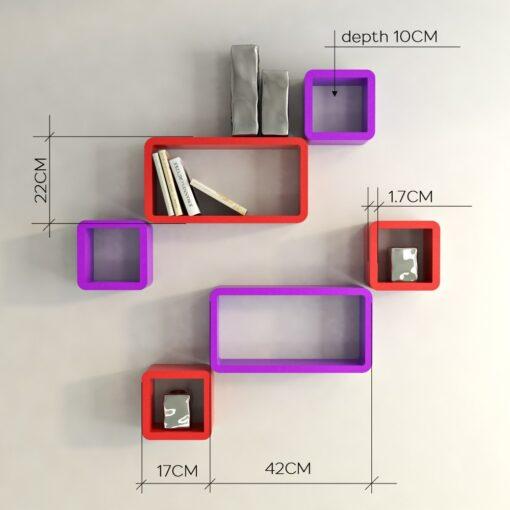 designer wall racks for sale red purple color