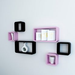 display wall shelves black and pink for sale