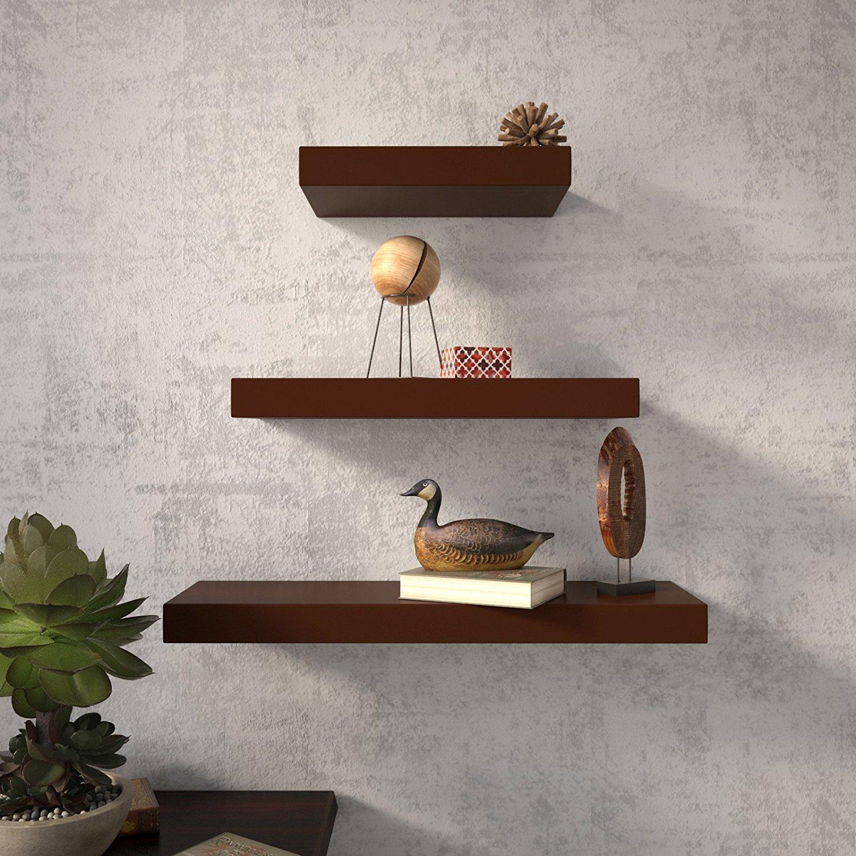 floating wall racks online india brown