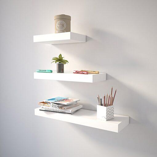 livingroom shelves white for home decor