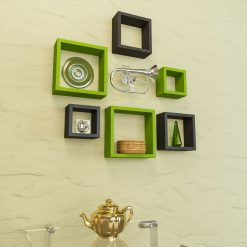 floating shelf racks green black for home decor