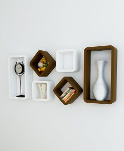 modern style wall racks white brown for home decor