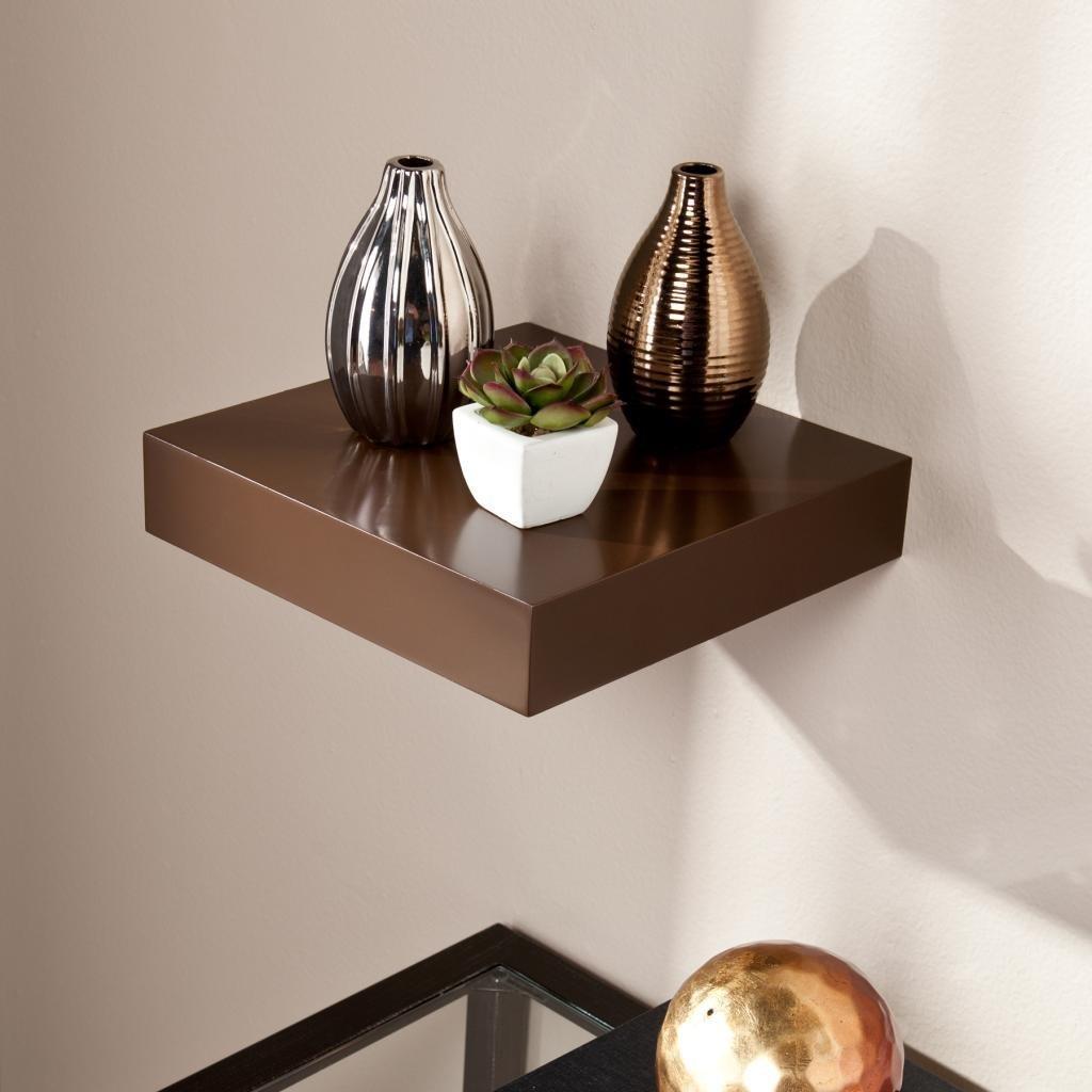 Sale On Decornation Wall Shelf Single Rack Brown 1 Set Floating Shelves Storage For Online India
