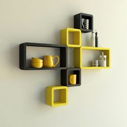 wall shelves yellow black for sale online