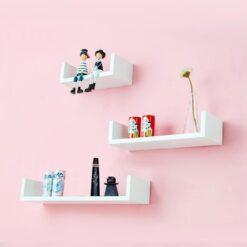 white u shape wall decor units for sale