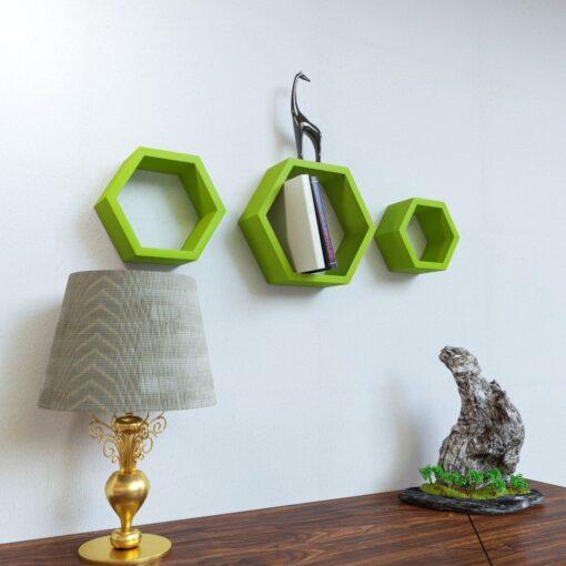 buy online hexagon wall racks low price