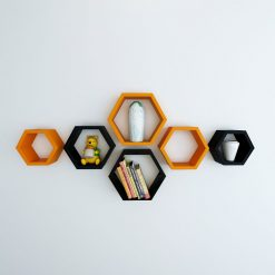 contemporary black orange wall racks for sale