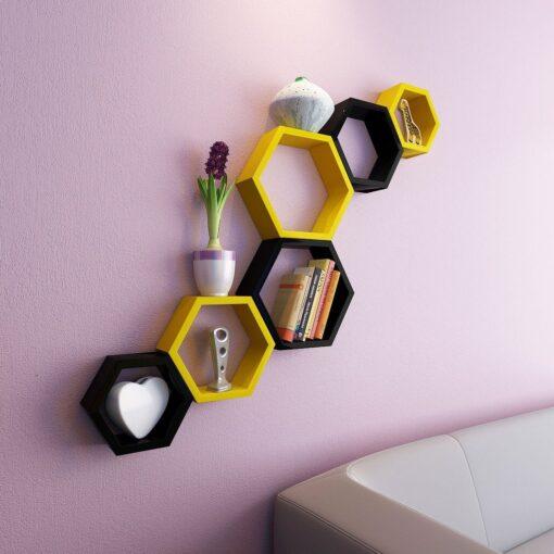 decornation hexagon wall racks for home decor