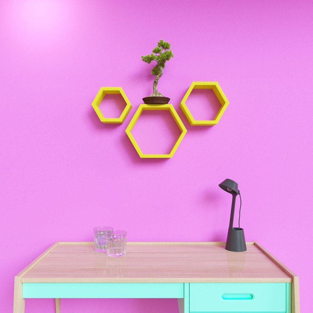 deornation hexagon wall shelves for sale