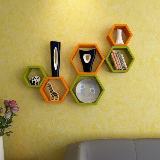 green orange wall shelf brackets for sale