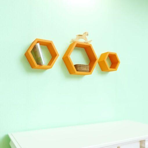 hexagon floating wall racks for sale