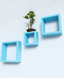 set of 3 skyblue decorative wall rack online india