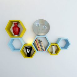 yellow skyblue wall decor shelves for sale