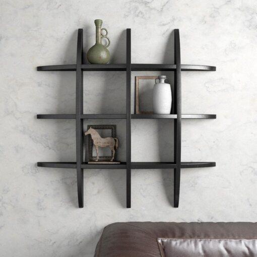 black decorative wall shelf
