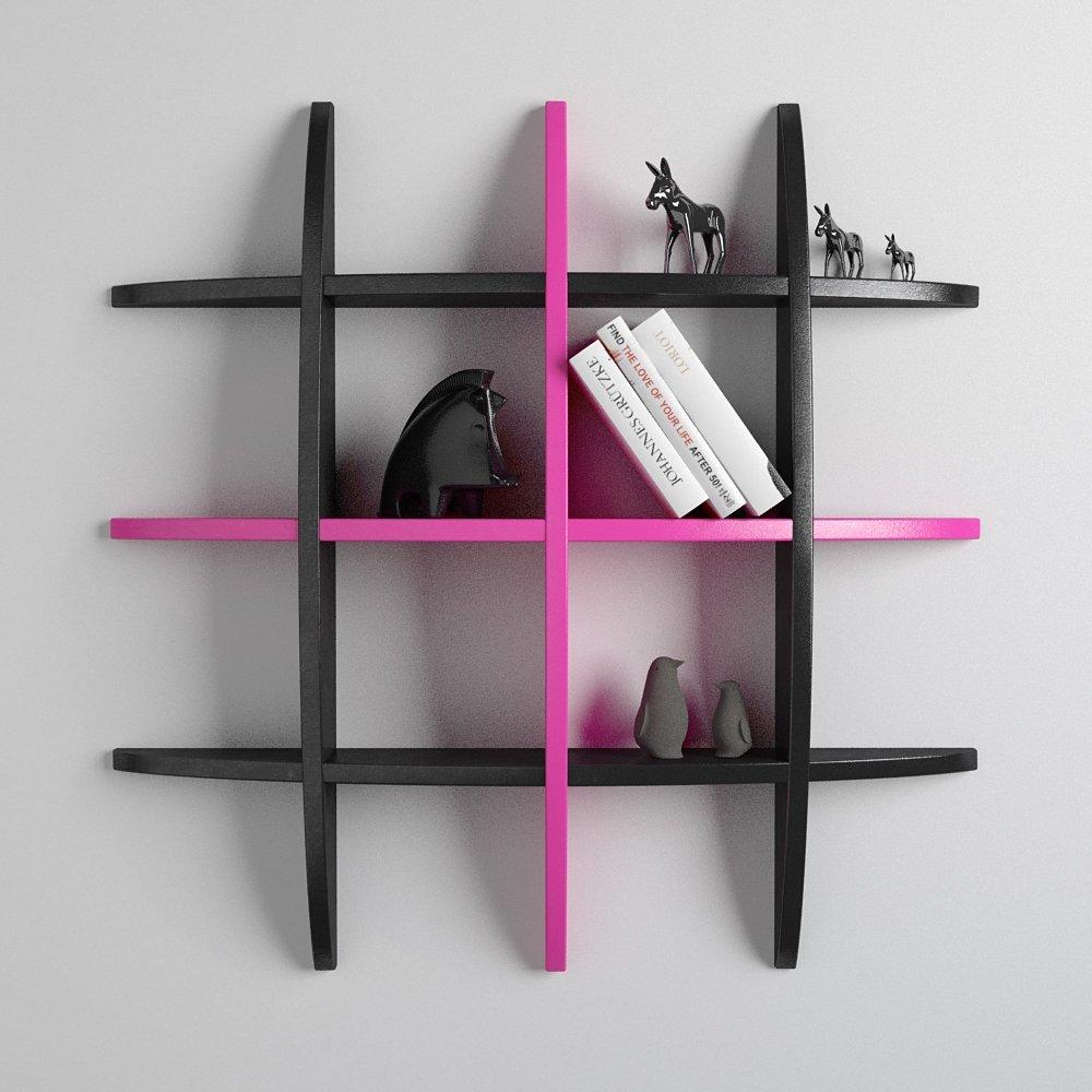black pink globe rack shelf