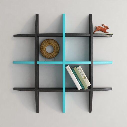 black skyblue decorative wall shelf
