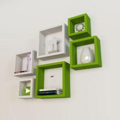 buy decornation white green square wall racks online