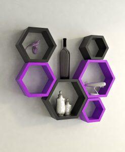 buy purple green wall shelves for room decor
