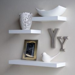 contemporary wall shelves for wall decor white